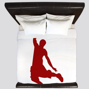 Basketball player Slam Dunk Silhouette King Duvet